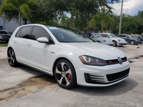 Certified Pre-Owned 2016 Volkswagen GTI Autobahn w/Performance Pkg & Lighting Pkg.