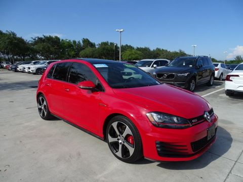 Certified Pre-Owned 2016 Volkswagen GTI SE w/ Performance & Lighting Packages / 6 Speed Manual / 4 doors