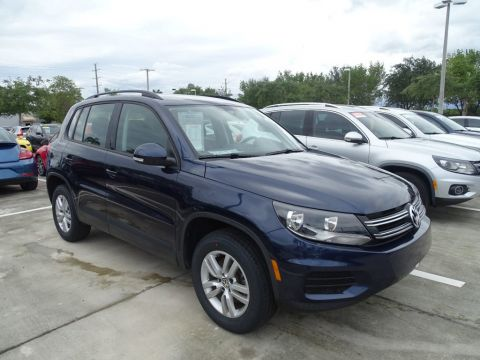Certified Pre-Owned 2015 Volkswagen Tiguan S pkg. with Automatic Trans.& Alloy Wheels